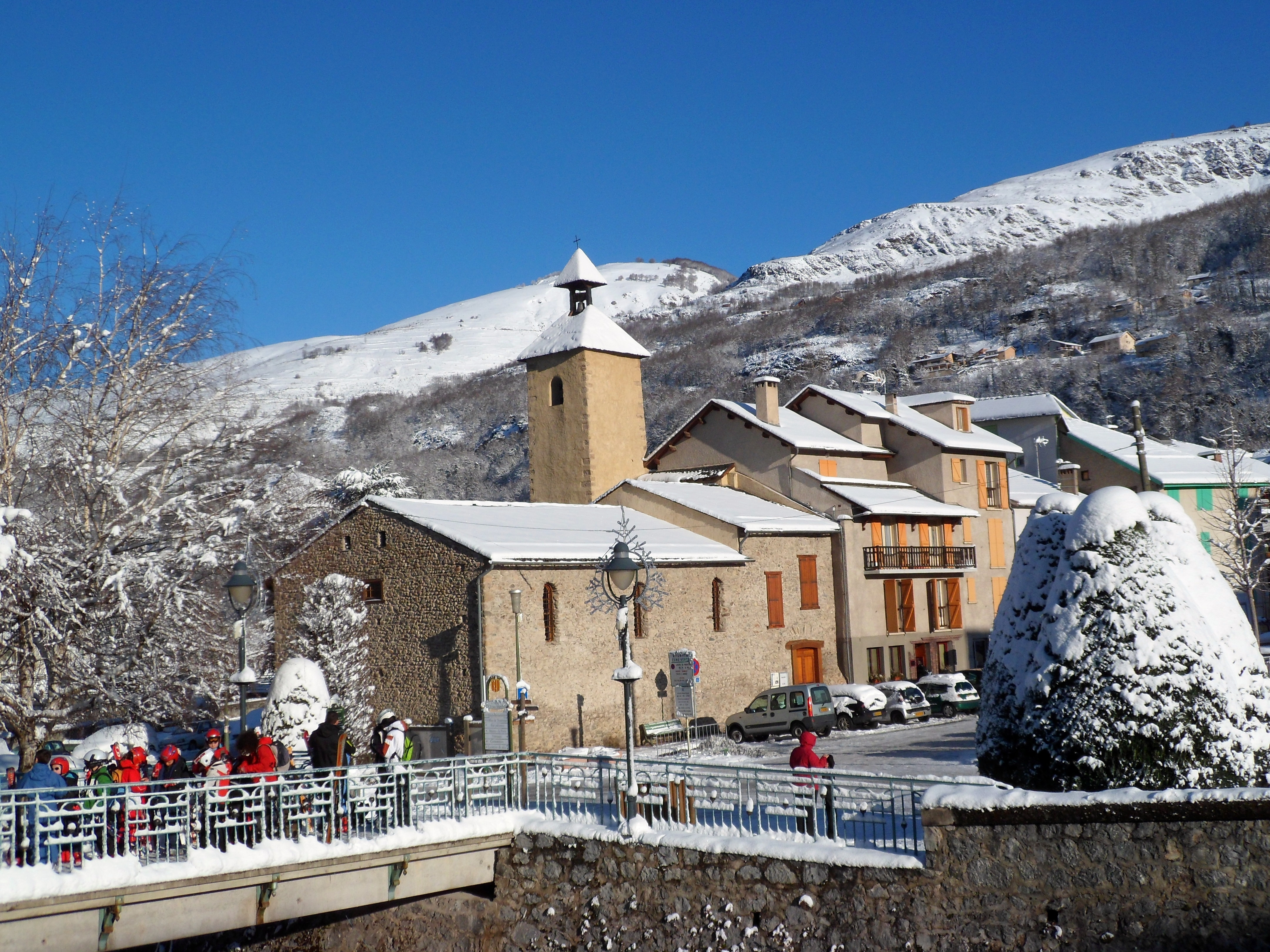 The beautiful Ax les Thermes village.  Catalan Pyrenees