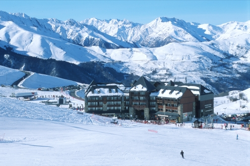 The Peyragudes resort. Hautes Pyrenees