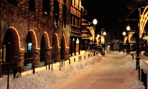 The Village by night, Saint Lary. Hautes Pyrenees