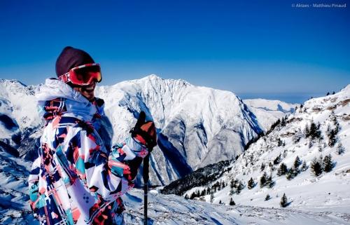 Skiing in Luz Ardiden