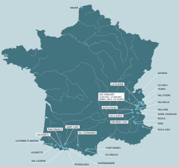 French Pyrenees - Self Drive distance map of France. Only 2-3hrs further from the Alps.